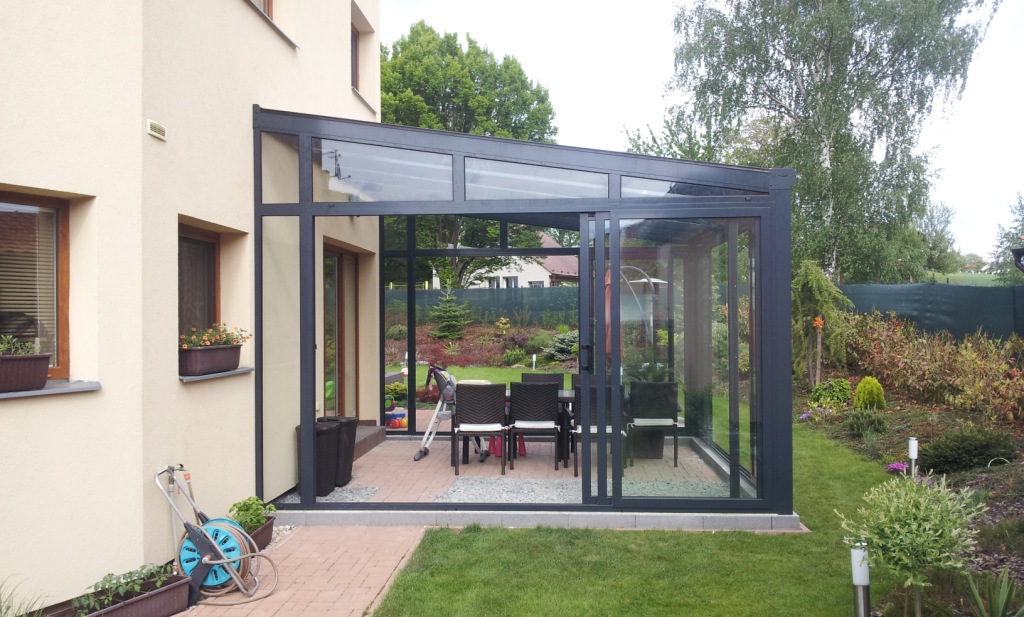 wintergarten dunkles aluminium pifema s r o. Black Bedroom Furniture Sets. Home Design Ideas