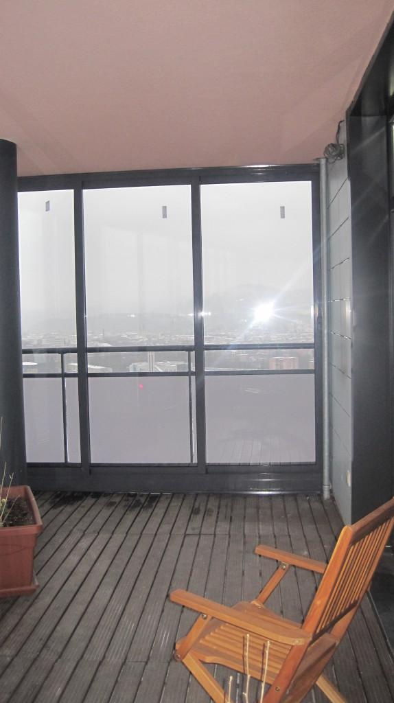 Verglasung der balkonterrasse im geb ude europalace im 17 stockwerk zilina pifema s r o - Trennwand schiebesystem ...