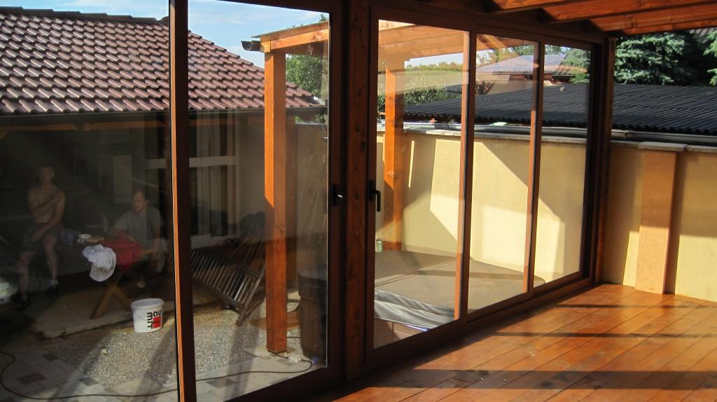 Ummantelung der terasse veranda familienhaus opoj for Veranda englisch