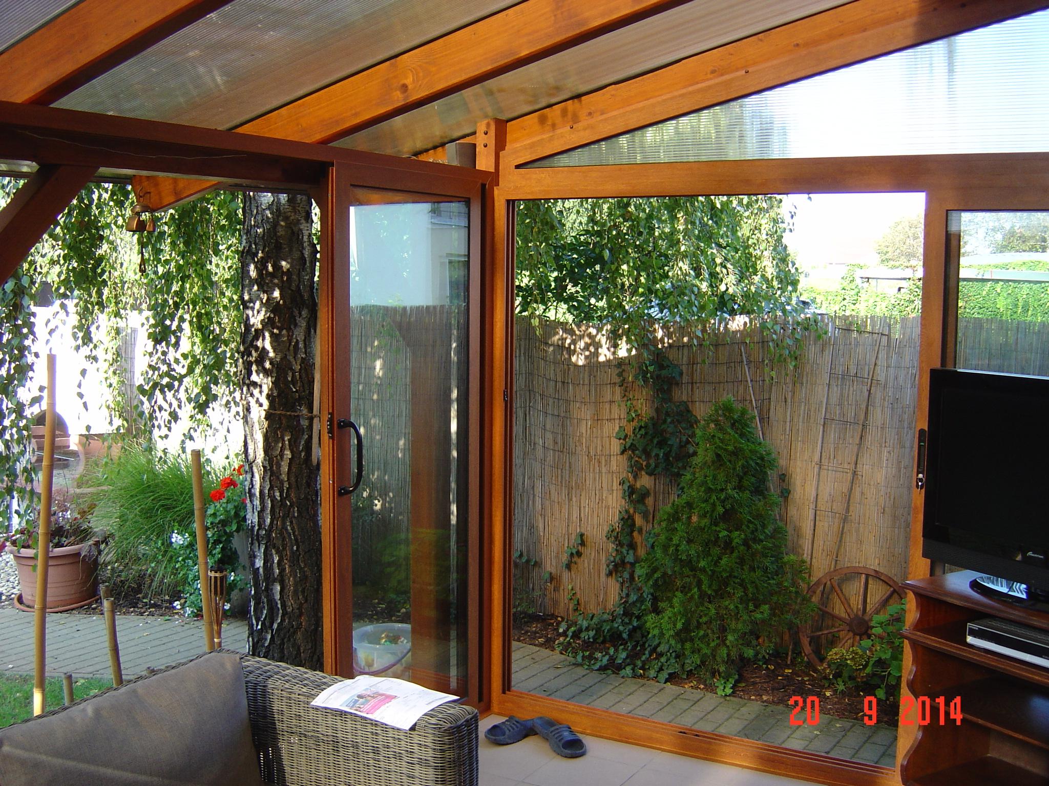 umh llung und verglasung der terrasse pifema s r o. Black Bedroom Furniture Sets. Home Design Ideas