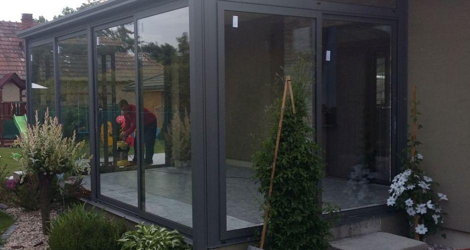 Terrace veranda and porch glazing pifema s r o - Veranda profil systeme ...