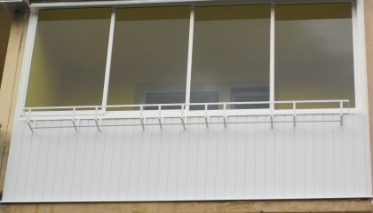 Balcony Glazing, Aluminium Construction, Frame Sliding System