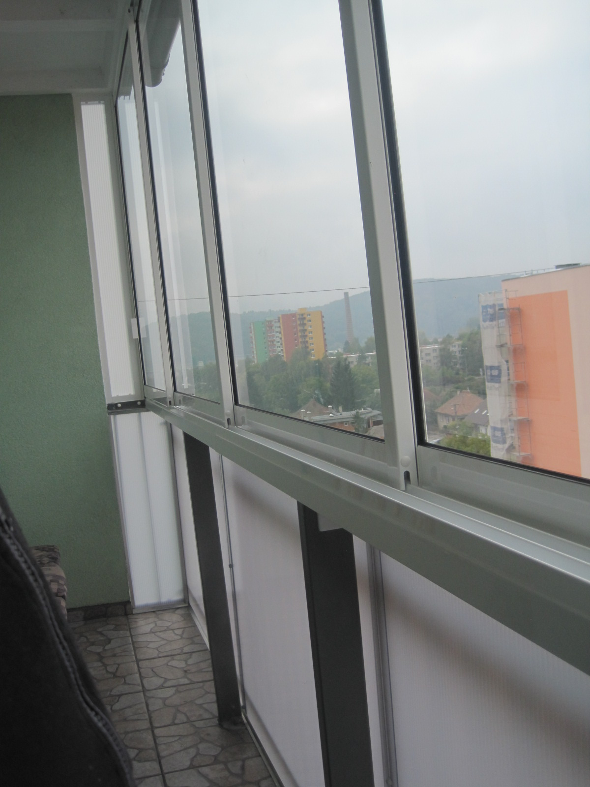 balcony glazing frame sliding system tren n pifema s r o. Black Bedroom Furniture Sets. Home Design Ideas