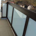 Aluminum balustrading, Padding: Safety glass Connex®