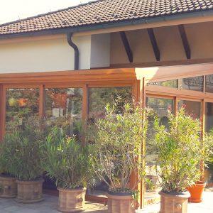 Hlinikova zimna zahrada v imitacii dreva