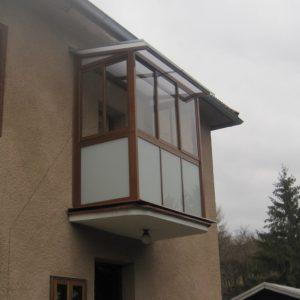 Zasklenie balkóna a montáž hliníkovej konštrukcie, rodinný dom, Ružomberok