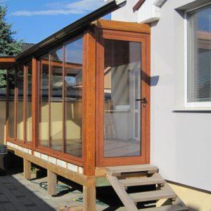 Opláštenie terasy/ verandy, rodinný dom, Opoj- Trnava