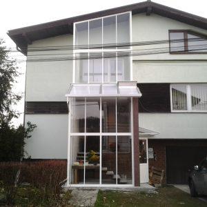 Zasklenie terasy  a verandy , Hniezdne